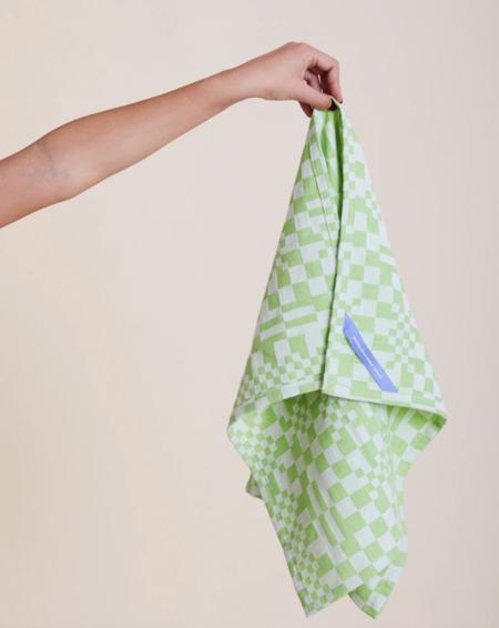 Dusen Dusen Set of Three Dish Towel - Pinwheel/Check/Twist