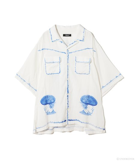 UNDERCOVER S/S Open Collar UC1A4411-1 Shirt - White