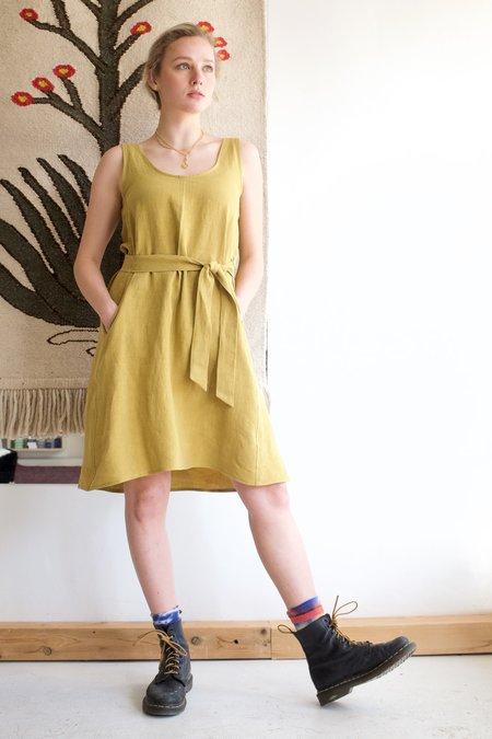 Eve Gravel Marigold Dress - Olive