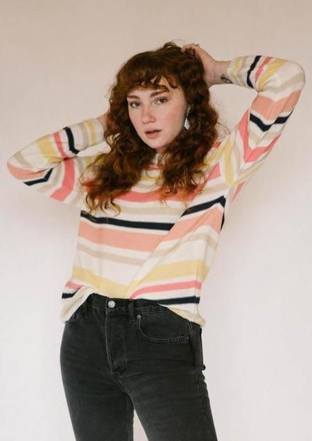 FRNCH Nacera Striped Sweater - multi