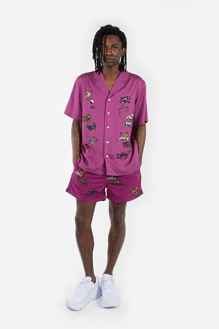 Soulland Orson Shirt - Purple AOP