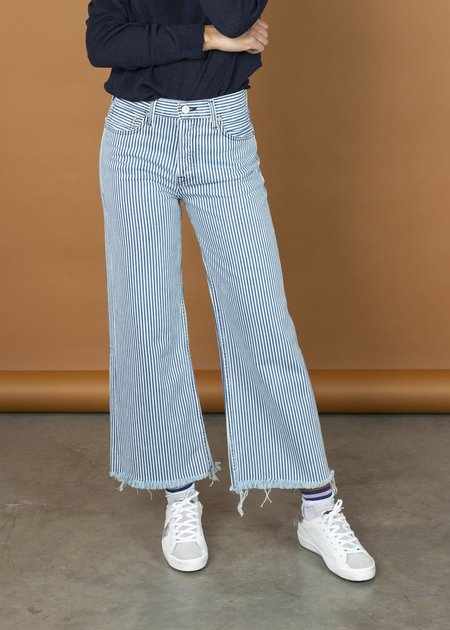 NOEND Halley Wide Leg Jean - railroad denim