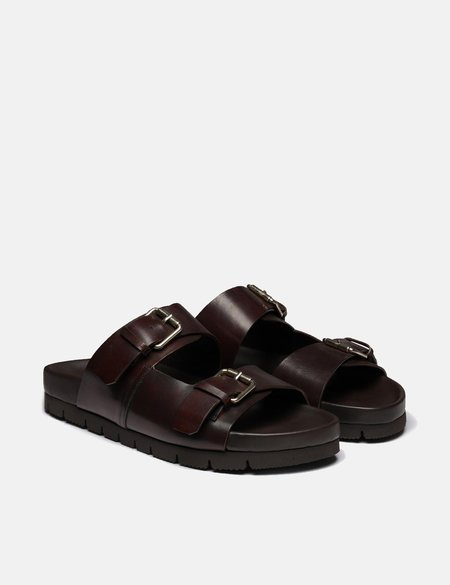 Grenson Florin Handpainted Leather Sandal - Brown