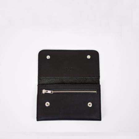 Le Bas Trifold Leather Wallet - Black