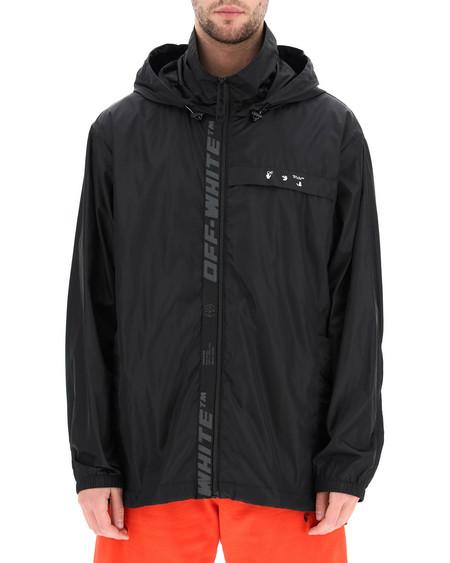 Off-White Logo Rain Jacket - Black