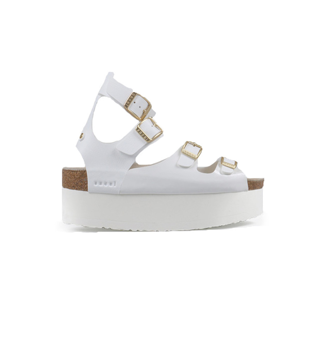 35655df189a Sacai Luck Leather Multi-Strap Platform Sandals