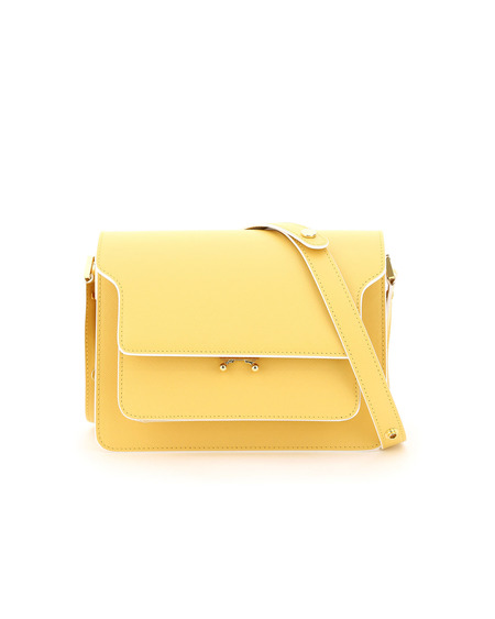 Marni Trunk Medium Leather Bag - Yellow