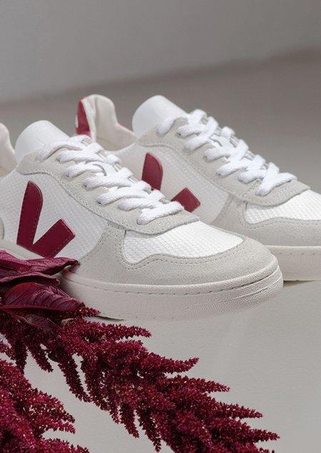 VEJA V-10 - B-MESH sneaker - White Natural Marsala