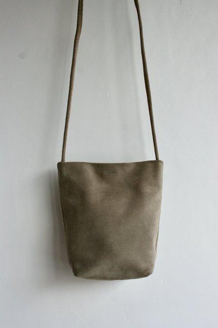 BAGGU Soft Crossbody Purse bag - Tan Suede