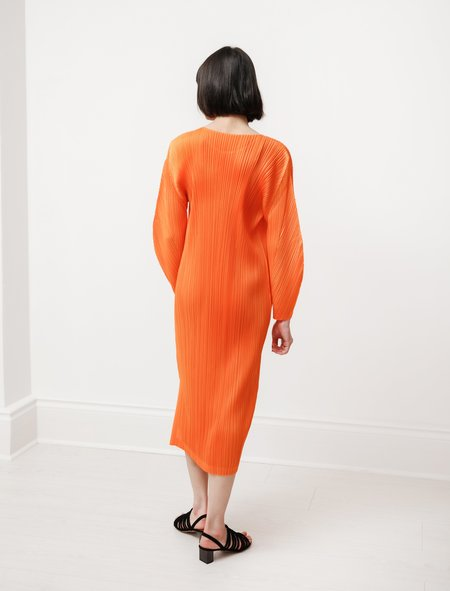 Pleats Please by Issey Miyake Rounded Sleeves Dress - Orange