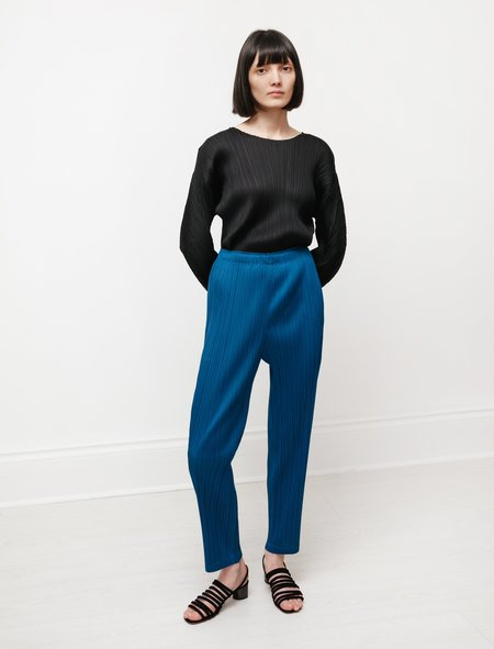 Pleats Please by Issey Miyake Straight Pants - Night Blue