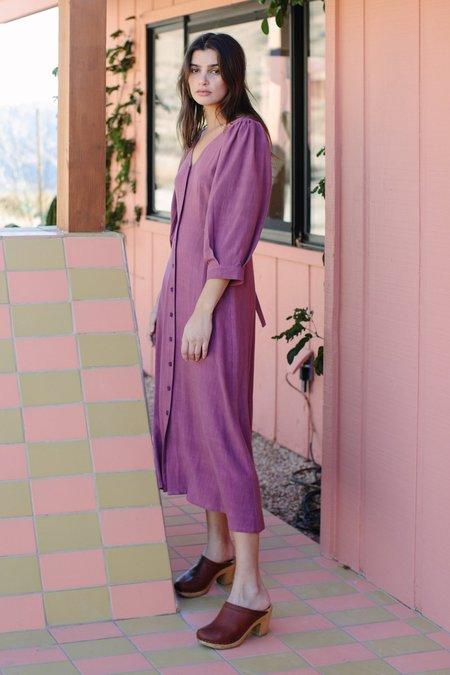 Rachel Pally Linen Agnes Dress - Plum