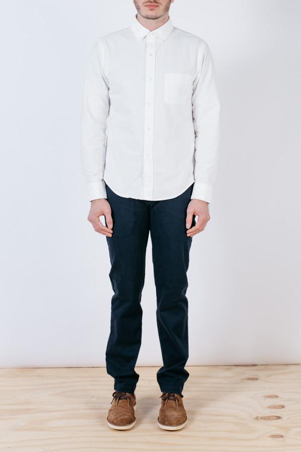 Men's Shuttlenotes Officer Shirt Button Down White
