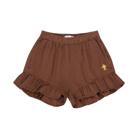 Kids Tinycottons Check Frills Shorts