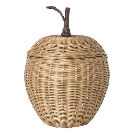 Ferm Living Small  Apple Braided Storage Basket - Beige