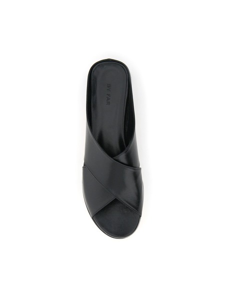 BY FAR Iggy Leather Mules - Black