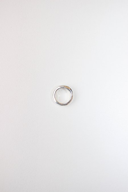 Unisex Swim To The Moon Eau Ring - Sterling Silver
