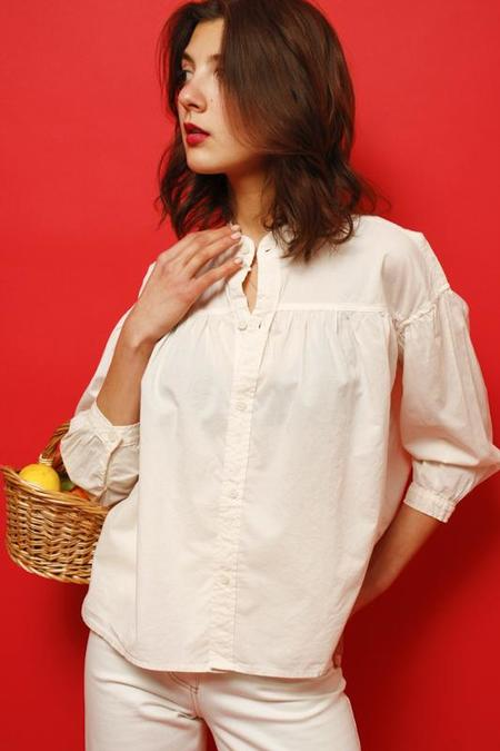 Mother The Gatherer Blouse - Pale Peach