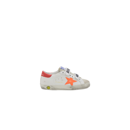 kids Golden Goose Old School Leather GJF00111-F001176-80880 sneakers - white/red/orange