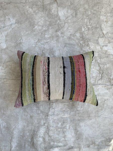 Cuttalossa & Co. Stripe Cotton woven Pillow - Pastel/Black