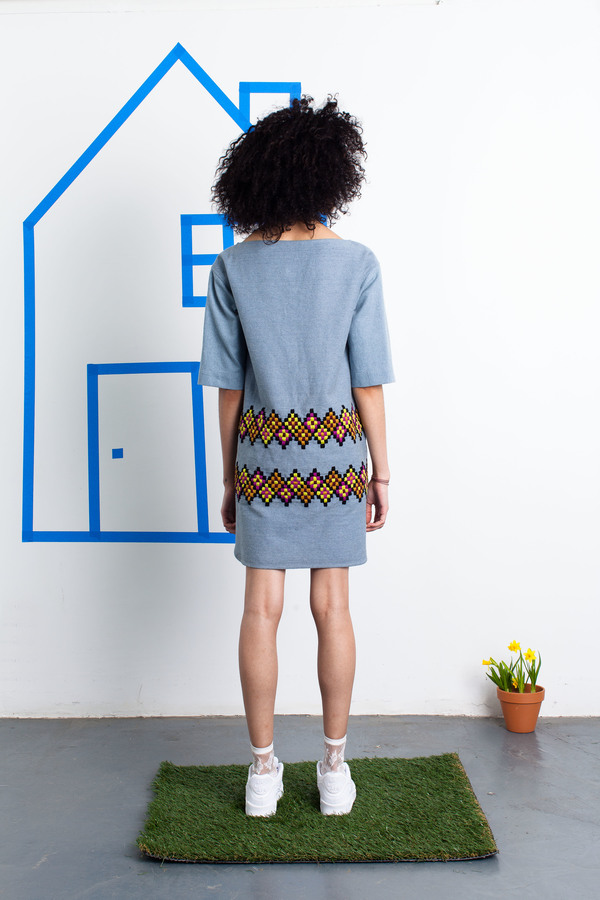 Harare Embroidered Denim Dress