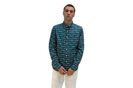 Far Afield Mod Shirt - Blue Surfboard Multi