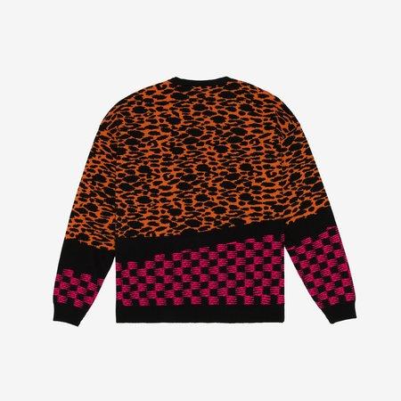 Pas De Mer Agua Santa Knit Sweater - Orange/Black Pattern
