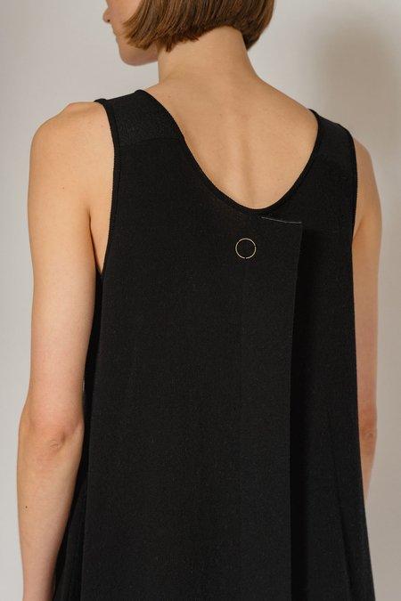 Oyuna Lundi Knitted Sleeveless Panel Dress - Jet Black