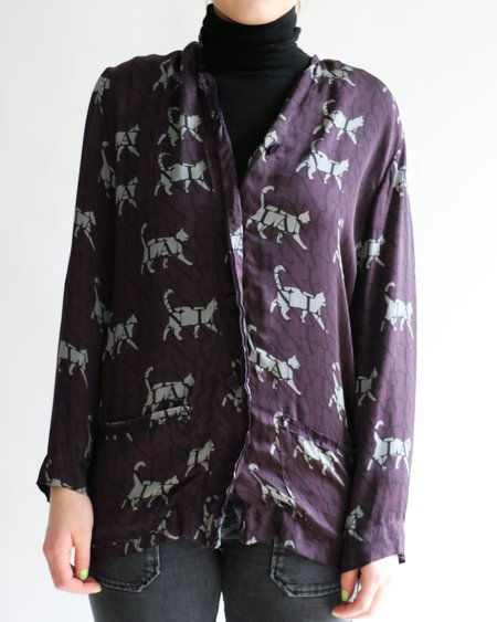 [Pre-loved] Lanvin Printed Button-Up Blouse