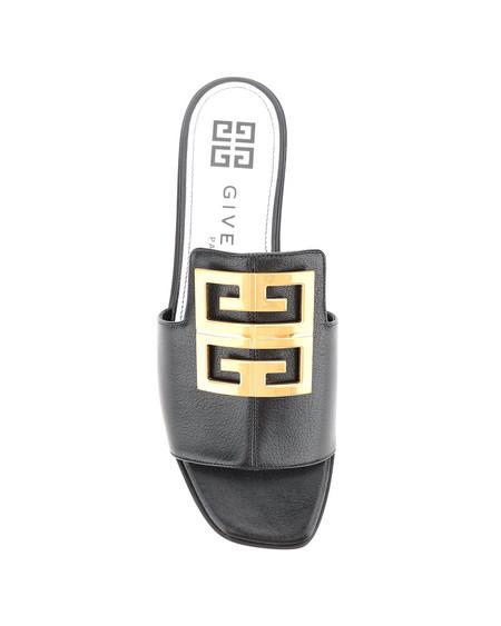 Givenchy Logo Leather Mules