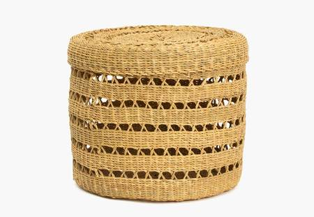 Kazi Goods Large Lidded Lace Grass Box