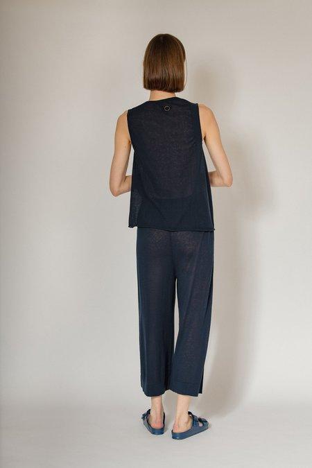 Oyuna Reitz Knitted Irregular Armhole Top - Ink Blue