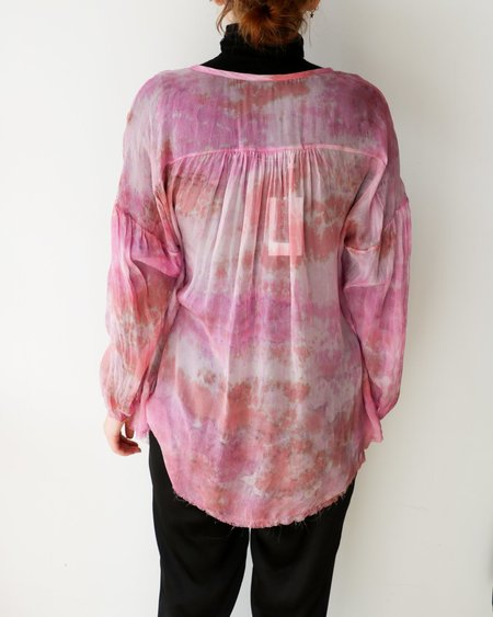 PRE-LOVED Raquel Allegra Sheer Dyed Blouse - Pink