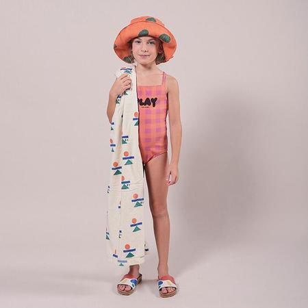 kids Bobo Choses Balance Print Beach Towel - Cream