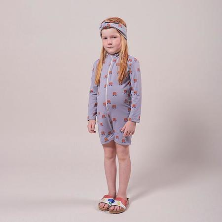 kids Bobo Choses Chocolate Flowers Print One Piece Swimsuit - Purple