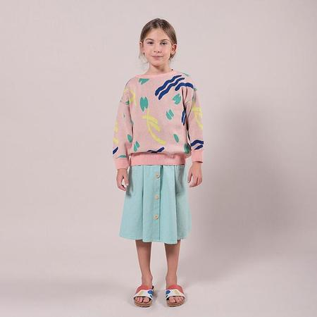 kids Bobo Choses Strokes Pattern Sweater - Pink