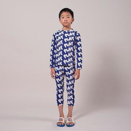 kids Bobo Choses Play Print Swim Top - Blue