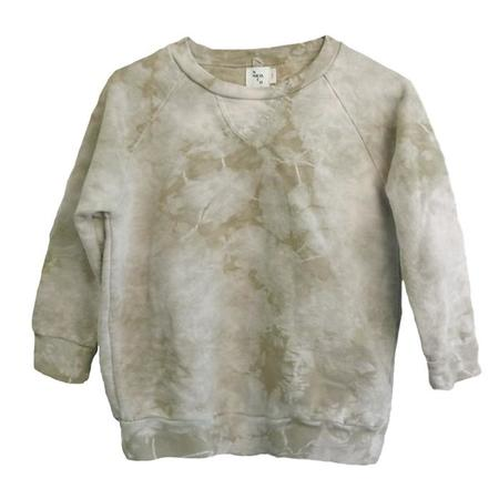 kids Nico Nico Child Luc Fleece Sweatshirt - Tie Dye Beige