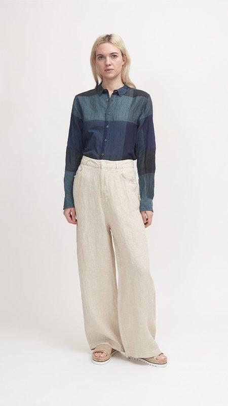 Pas de Calais Classic Relaxed Fit Linen Pant - Ivory