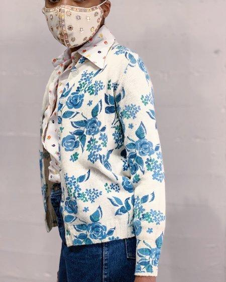 Vintage Cardigan - Blue Rose