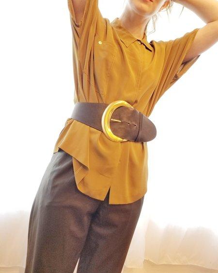 Vintage Donna Karan Sculptural Leather Belt