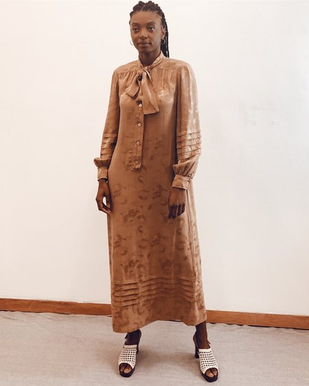 Vintage Dragon Brocade Silk Dress