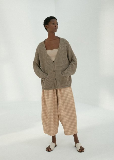 Monica Cordera Cable Cardigan - Taupe