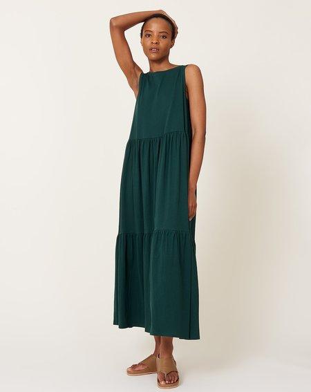 Kowtow Tier Dress - Bottle Green