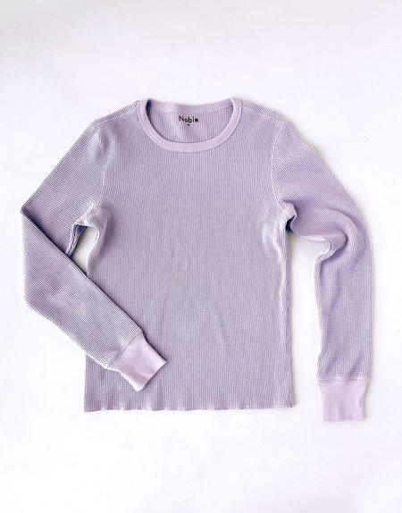 Noble Organic Waffle Top - Lavender