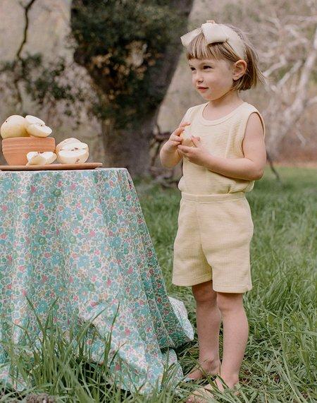 Kids Noble Organic Waffle Tank Set - Buttercream