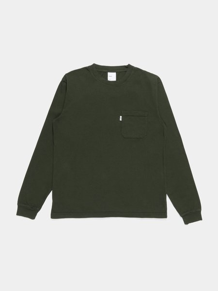 Adsum Long Sleeve Pocket Tee - Dark Green