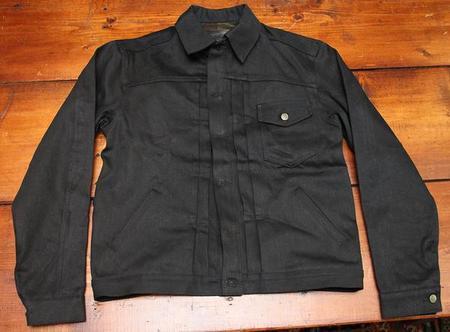 Left Field NYC Black Mule Skinner Denim Jacket