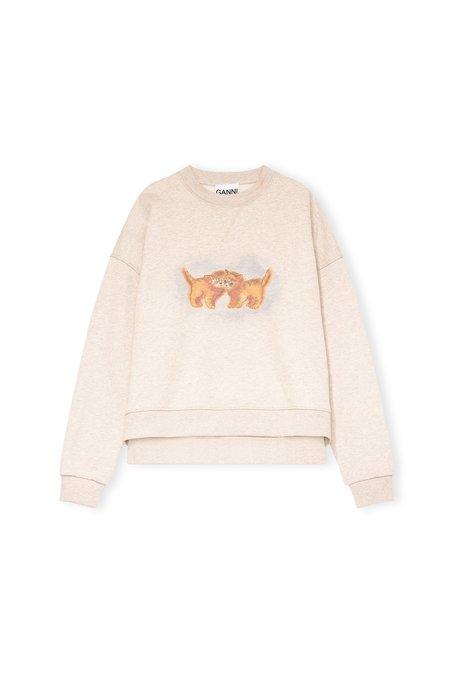 Ganni Cozy Kittens Sweatshirt