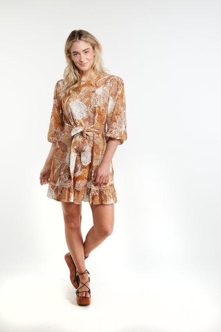 THE ODELLS Julianne Dress - Brick Multi
